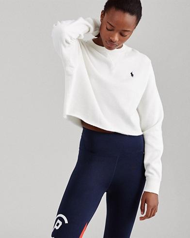 Cropped Fleece Sweatshirt