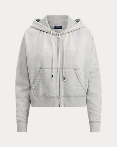 Cropped Fleece Full-Zip Hoodie