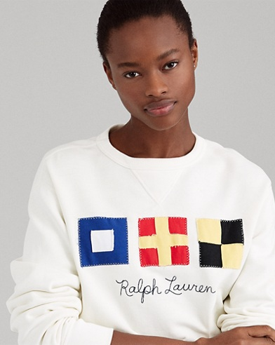 Flag Patch Fleece Sweatshirt