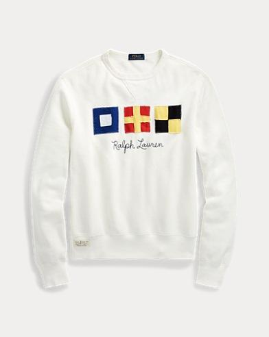 Flag Patch Fleece Sweatshirt