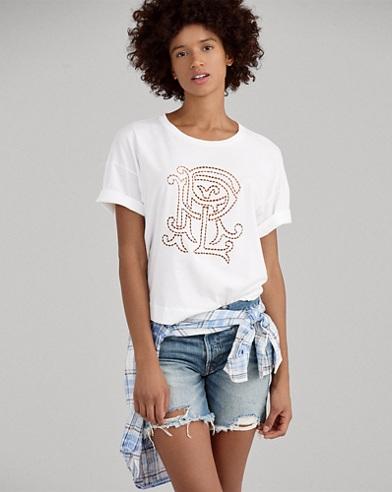 PRL Monogram Cotton T-Shirt