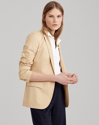 Stretch Cotton Twill Jacket