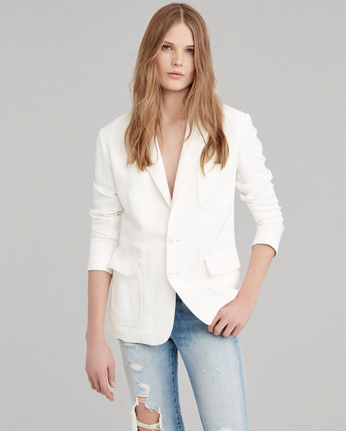 Linen Blend Blazer by Ralph Lauren