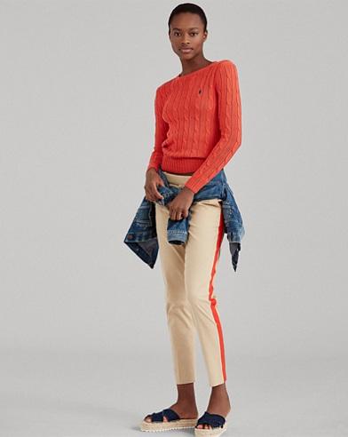 Side-Stripe Stretch Twill Pant
