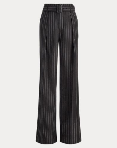Linen-Wool Wide-Leg Pant