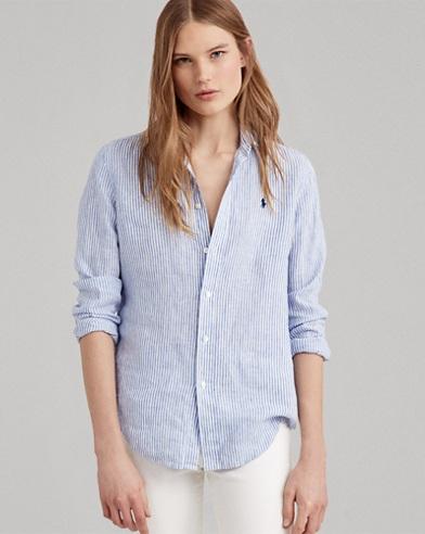 Relaxed Striped Linen Shirt