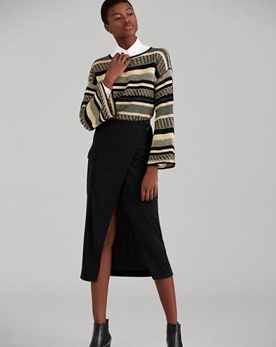 Jersey Cargo Wrap Skirt