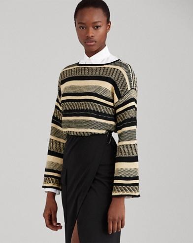 Linen Bell-Sleeve Sweater