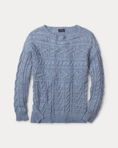 Cable Cotton-Linen Sweater