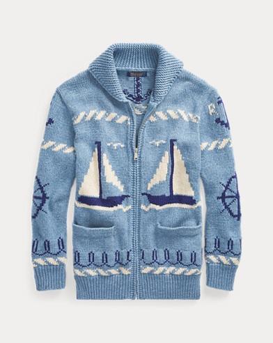 Sailboat Shawl Sweater