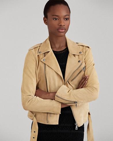 Suede Moto Jacket