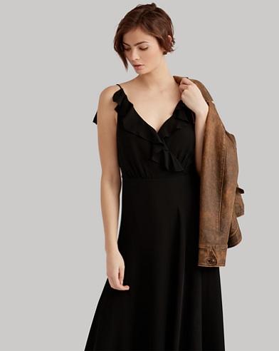 Ruffled Silk Maxidress