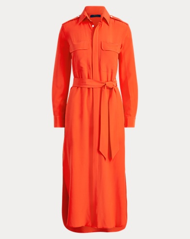 Belted Silk Shirtdress