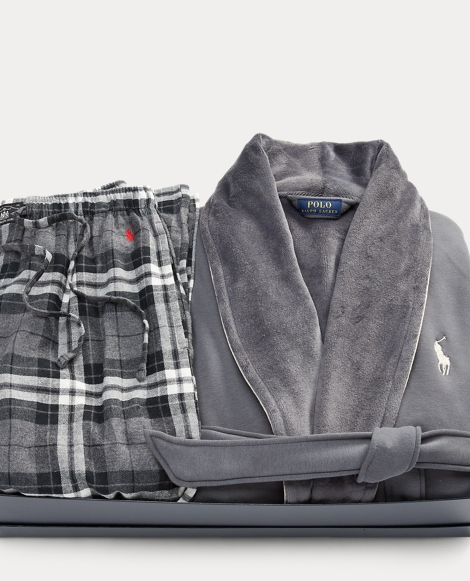 Robe & Plaid Pant Gift Set