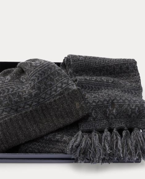 Fair Isle Hat & Scarf Gift Set
