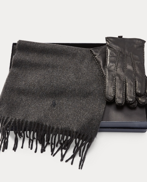 Cashmere Scarf & Glove Set
