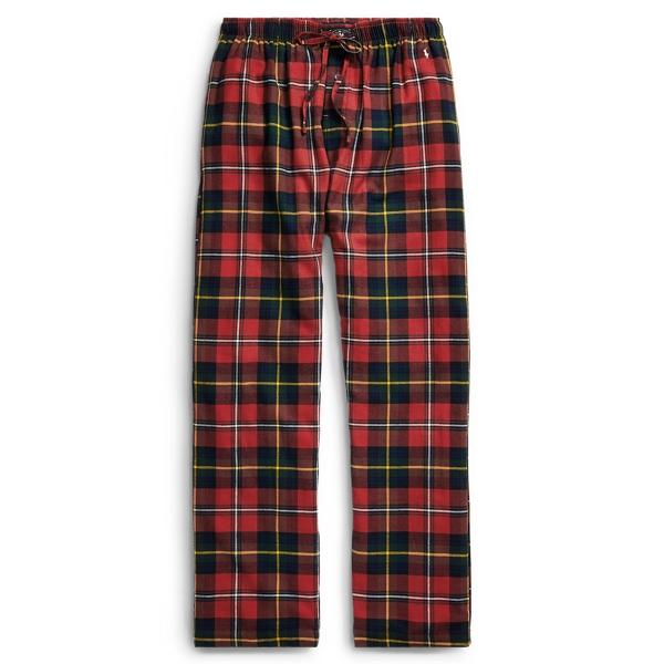 Ralph Lauren Flannel Pj Pant Plaid/Black/Cream Pp Tall L