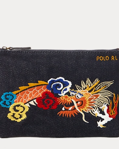 Dragon Canvas Mini Zip Pouch