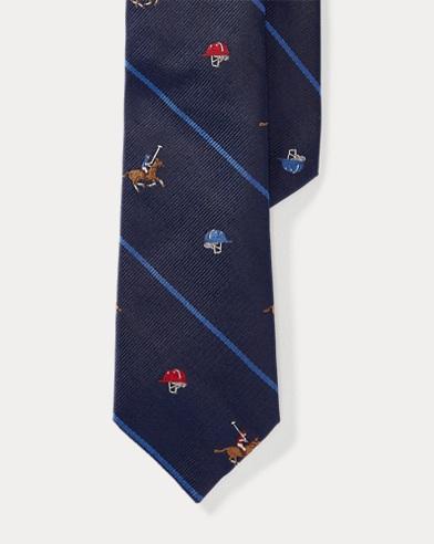 Polo Striped Silk Tie