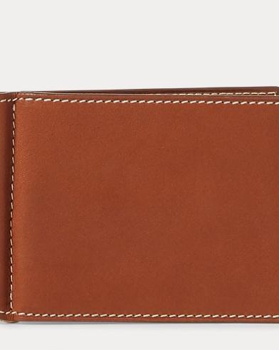 Calfskin Money Clip Card Case