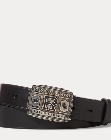 R-Buckle Vachetta Leather Belt