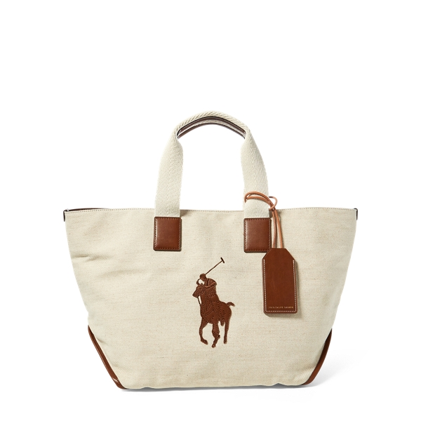 Ralph Lauren Cotton-Jute Big Pony Tote Natural One Size