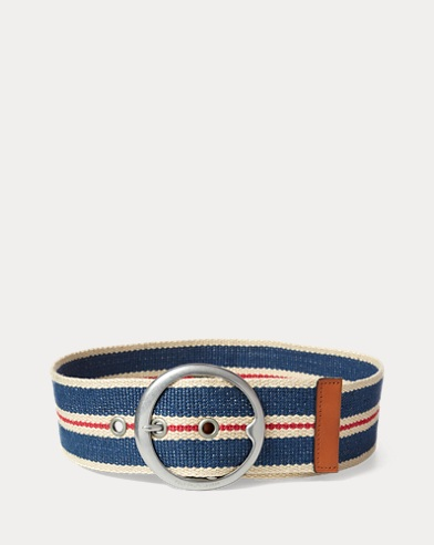 Striped Webbed Wide Belt