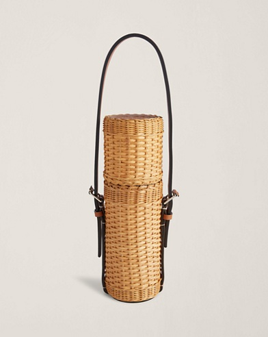 Bailey Wicker Wine Tote