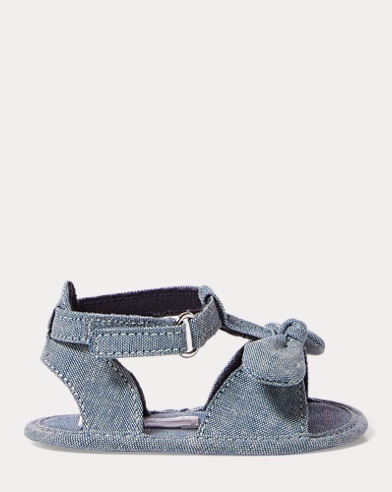 Zoii Cotton Chambray Sandal