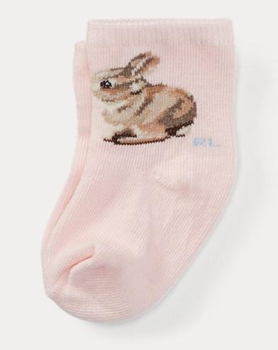 Intarsia-Bunny Crew Socks
