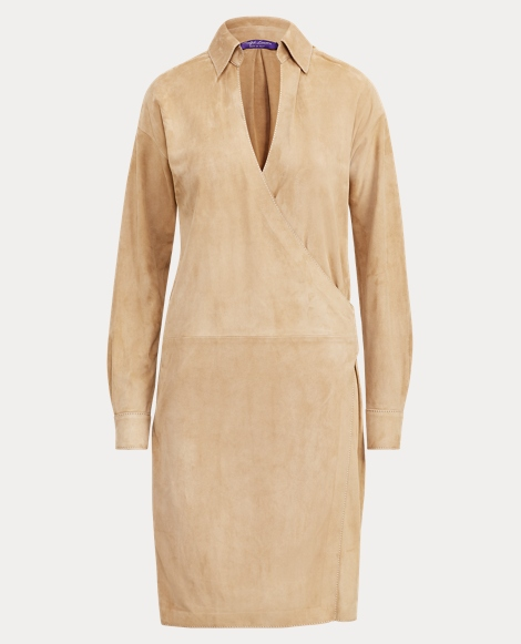 Aiden Suede Wrap Dress