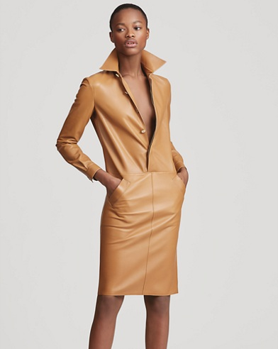 Parker Leather Shirtdress