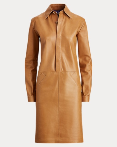 Parker Leather Shirtdress