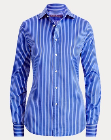 Charmain Striped Satin Shirt