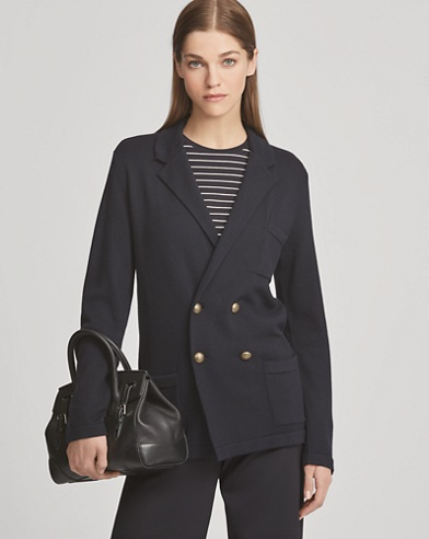 Notch Collar Cashmere Cardigan