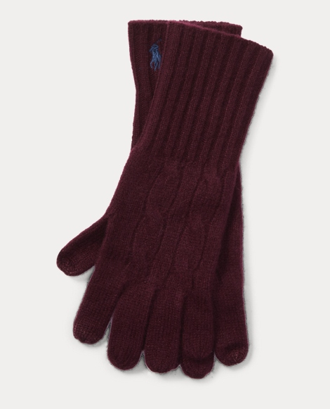 Cable-Knit Touch Screen Gloves