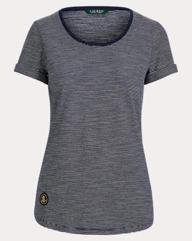 LRL Patch Striped T-Shirt