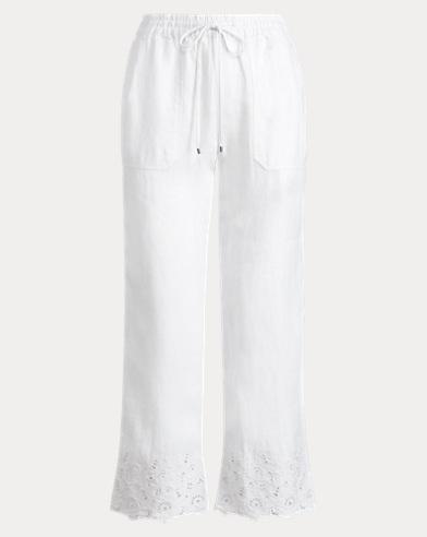 Eyelet-Cuff Wide-Leg Pant
