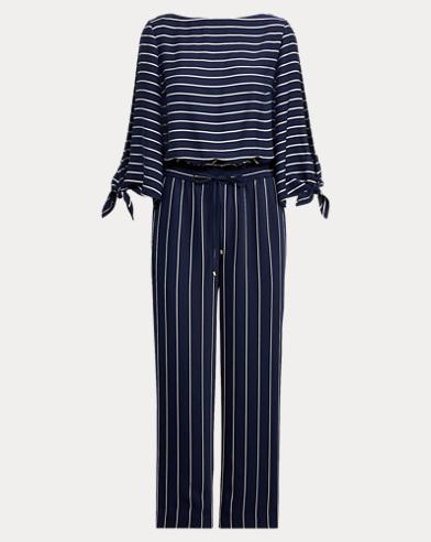 Striped Satin Jumpsuit