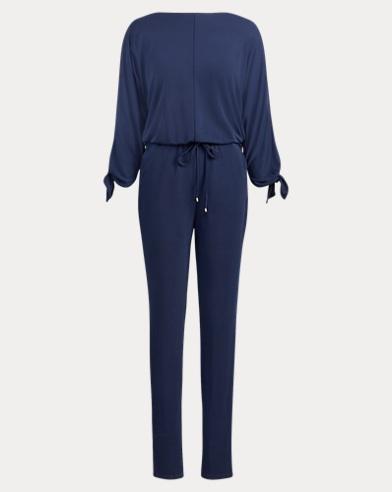 Slit-Sleeve Jersey Jumpsuit