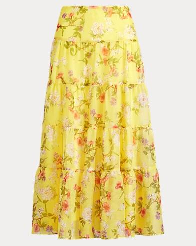 Floral Georgette Maxiskirt