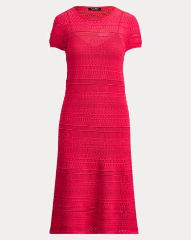 Pointelle-Knit Cotton Dress