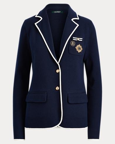 Crest Cotton-Blend Blazer