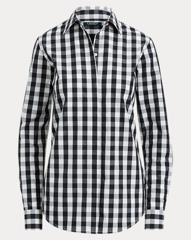 Gingham Cotton Popover