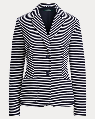 Striped Knit Cotton Jacket