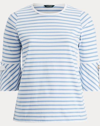 Jersey Bell-Sleeve Top