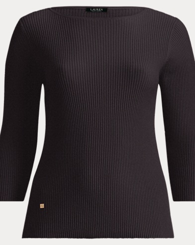 Cotton-Blend Boatneck Sweater