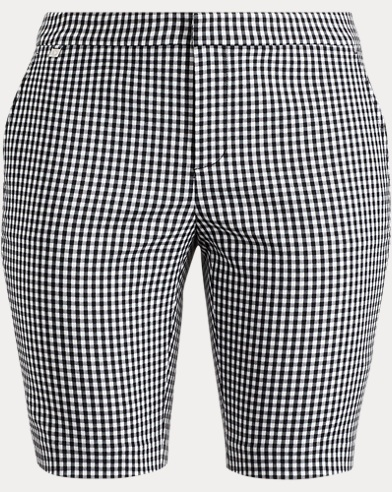 Gingham Stretch Bermuda Short