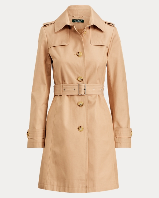 Cotton Blend Belted Trench by Ralph Lauren