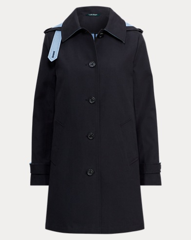 Cotton-Blend Balmacaan Coat